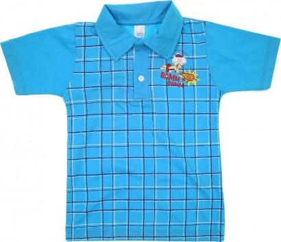 Camiseta Polo de Malha Manga Curta Bam Bam