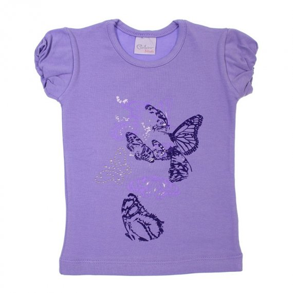 Camiseta Manga Curta para Menina Color Mini 6766