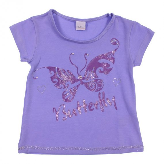 Camiseta Infantil com Borboleta Color Mini