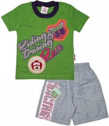 Camiseta e Bermuda para Menino Race