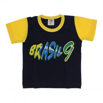 Camiseta Infantil Manga Curta Brasil