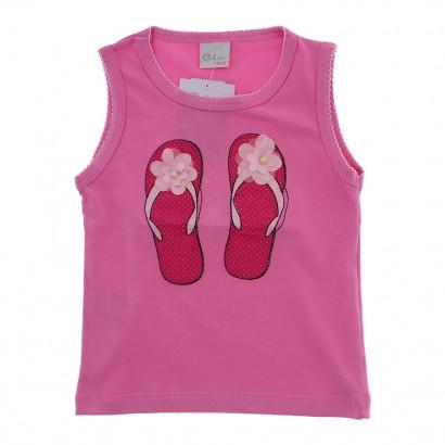 Camiseta Regata Infantil Sandalias - 9047