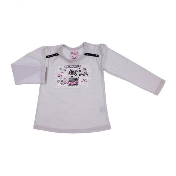 Camiseta Infantil Menina Colorindo o Planeta
