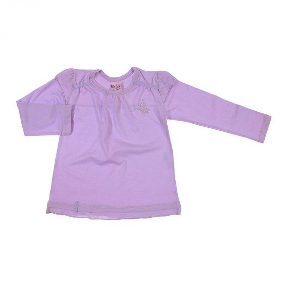 Camiseta Infantil Manga Longa com Strass