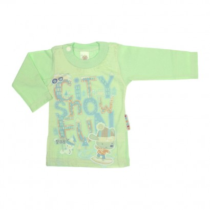 Camiseta para Bebê Manga Longa Snow Fun