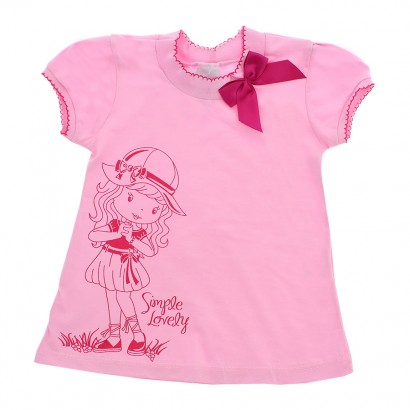 Camiseta infantil manga curta doce menina - Cod. 7893