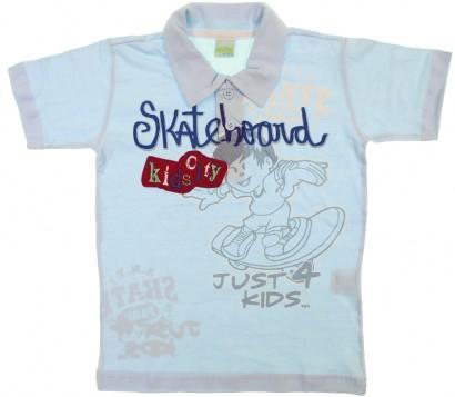 Camiseta Polo Infantil - Menino - Kids Minis - cod. 7003