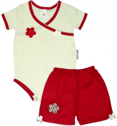 Conjunto Body Bebê Menina 4851