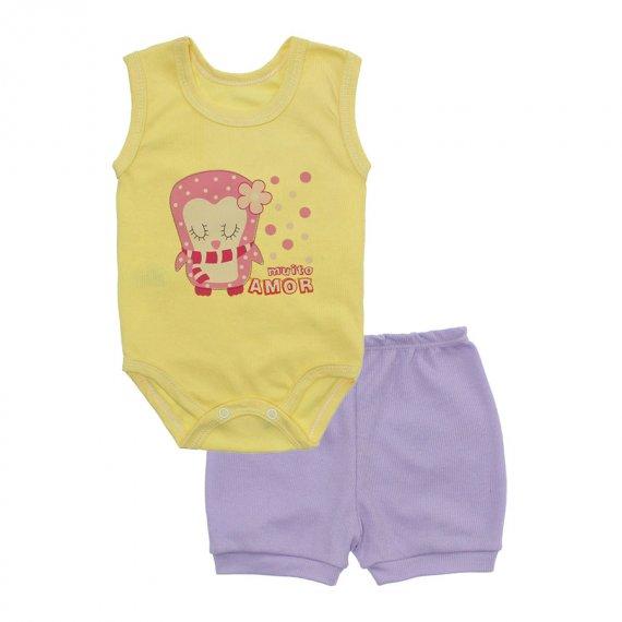 Conjunto Body Regata e Shorts Menina