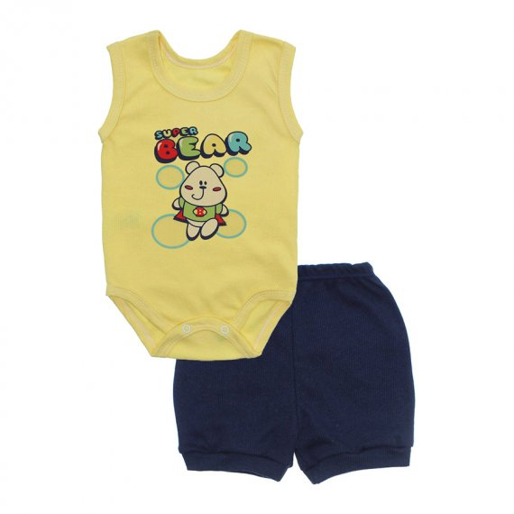 Conjunto Body Regata e Shorts Menino