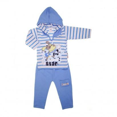 Conjunto Camiseta e Calça Azul Escuro Star Rock - Cod. 7210