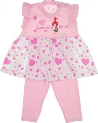 Conjunto de Bebê Bata e Legging Pedrita