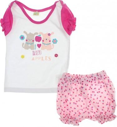 Conjunto de Bebe - Shorts e Camiseta - Smoby Baby 6158