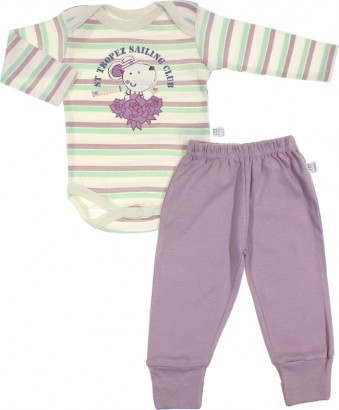 Culote e Body para Bebê Menina Zig Mundi 6735