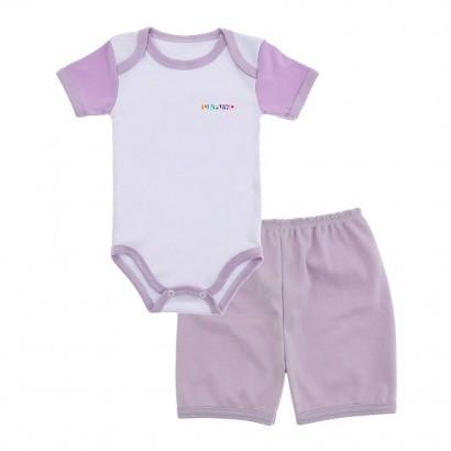 Conjunto de Body e Short para Bebê Lapuko
