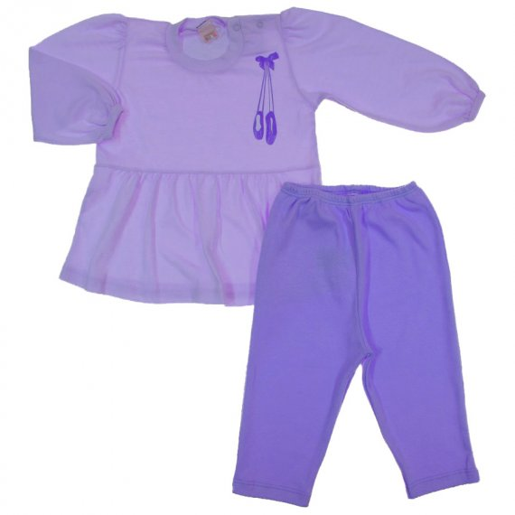 Conjunto Bebê Bata e Legging Bailarina