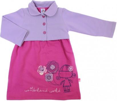 Vestido Infantil com Bolerinho 6006