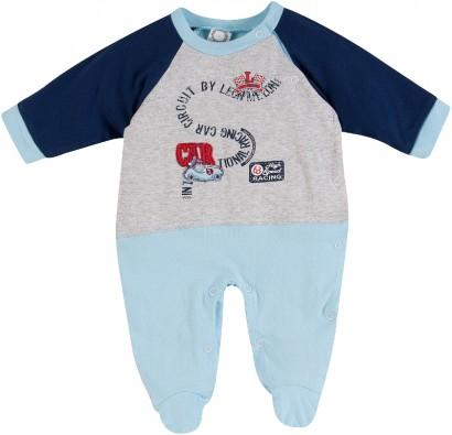 Macacão de Bebê Longo Menino Leão Melão 6572