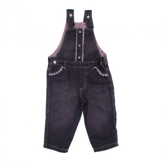 Jardineira Infantil Jeans Menina
