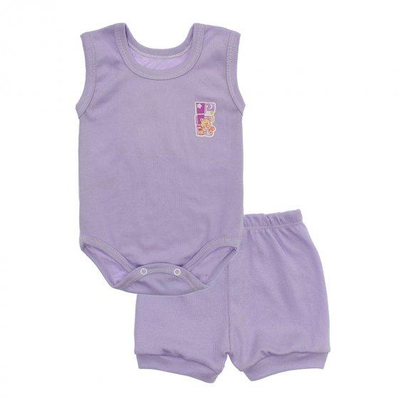 Kit Body Bebê Regata e Short Feminino Lapuko