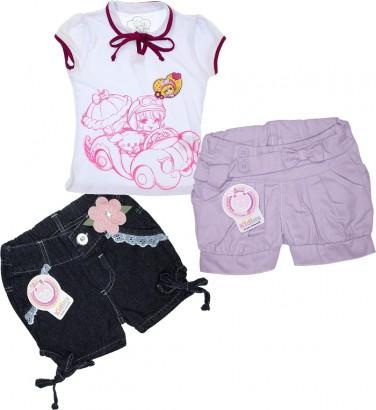 Super Oferta - Kit Infantil Menina 3 peças