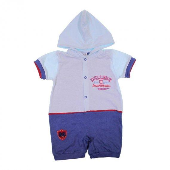 Macacão Curto de Bebê Com Capuz Baby Gijo