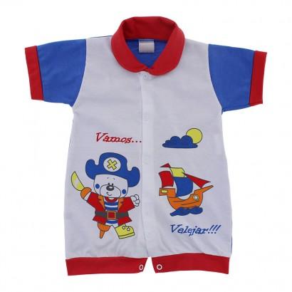 Macacão Curto para Bebê Vamos Velejar 9830