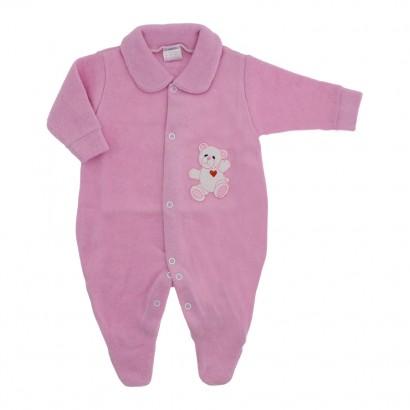 Macacão de Bebê em Soft com Pé