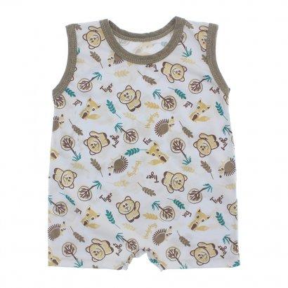 Macacão de Bebê Curto Estampado Lapuko