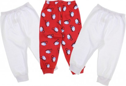 Calças para Bebê Menino Sem Pé Click 3 Peças
