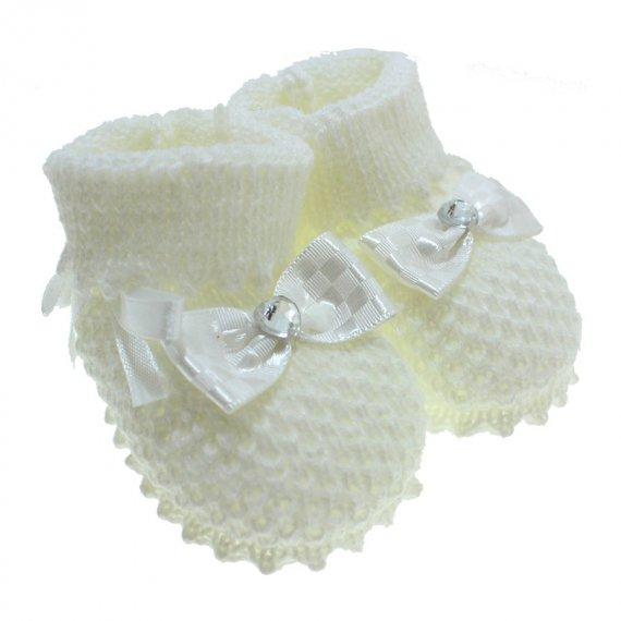 Pantufa de Bebê Botinha de Lã