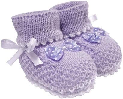 Pantufa de Bebê Botinha de Lã Lilás 3306