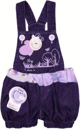 Enxoval de Bebê - Jardineira Jeans - Cod. 4341