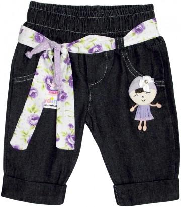 Calça de Bebê em Jeans Francesinha - Cod. 4501