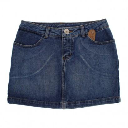 Mini Saia Jeans Infanto Juvenil