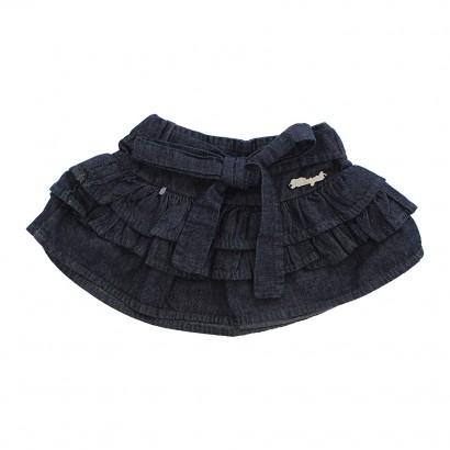 Saia Jeans Infantil Babados 4827