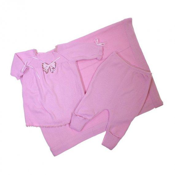 Saída de Maternidade Vestido Linha Rosa 7505