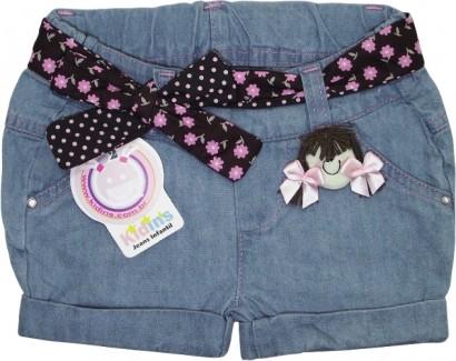 Shorts Jeans Infantil Menina 3580