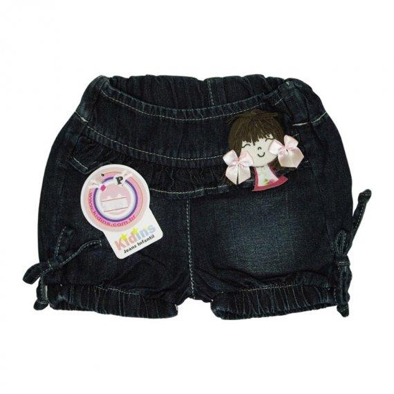 Shorts Jeans Menina Laço de fita