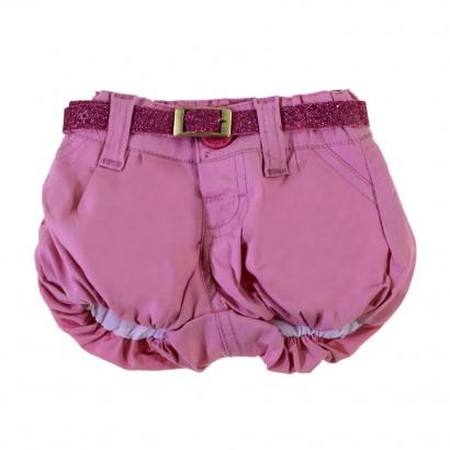 Shorts de Bebê Rosa Com Cinto 8597