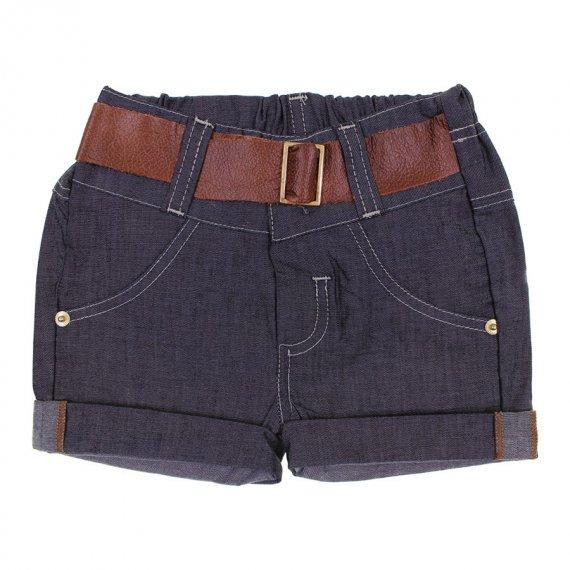 Shorts de Jeans para Bebê Cinto de Couro 6312