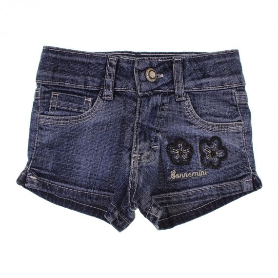 Shorts Jeans Infantil Bordado