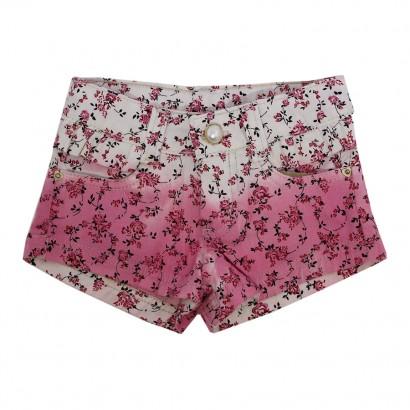 Shorts Floral em Sarja