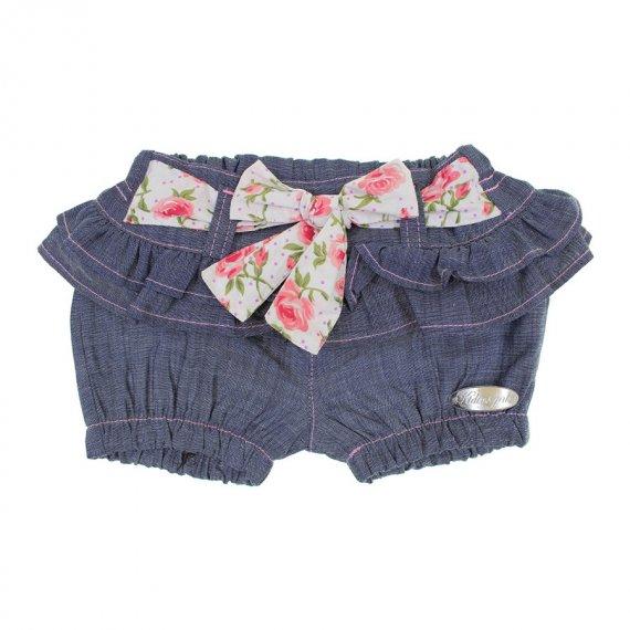 Shorts Jeans Infantil com Babadinho