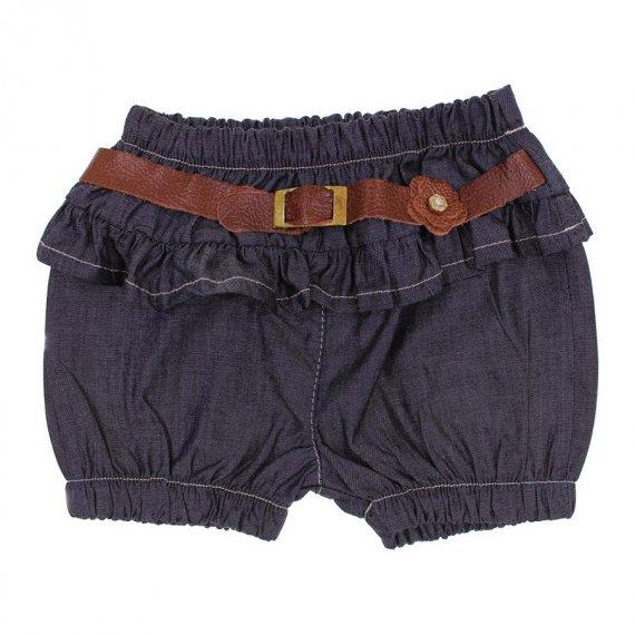 Shorts Jeans Infantil com Cinto 6333