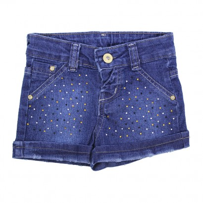 Shorts Jeans com Strass