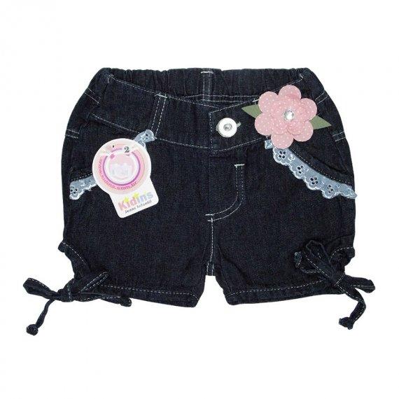 Shorts Infantil Jeans Flor
