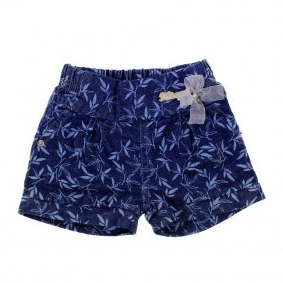 Shorts Jeans Floral para Bebê 8588