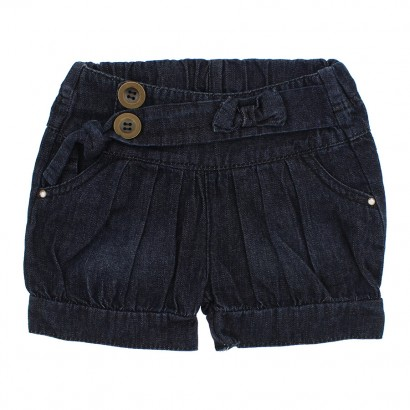 Shorts Infantil com Preguinhas Jeans