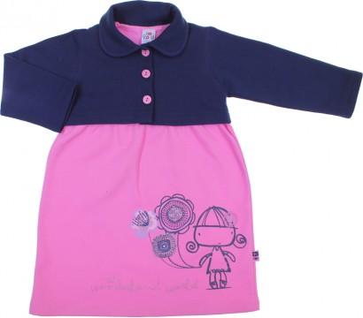Vestido Infantil com Bolerinho Rolú